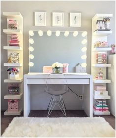 Awesome Tween Girls Bedroom Ideas For Creative Juice Girl Bedroom Designs Awesome Bedroom creative Girls Ideas Juice Tween Room Decor Bedroom, Vanity Set Up, Stylish Bedroom, Room Makeover, Makeup Room Decor, Aesthetic Room Decor, Room Ideas Bedroom, Bedroom Design, Tween Girl Bedroom