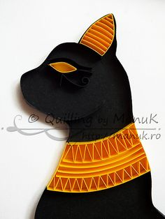 Quilled Egyptian Cat: Quilling by Manuk