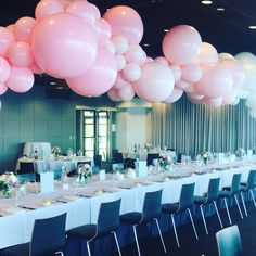 A floating pink cloud for one lucky little girls christening at the newly refurbished stunning @sandringhamyachtclubevents #christeningideas #christeningballoons #eventsmelbourne