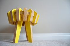 """""""Asterisk"""" stool - interactive piece of furniture for children - baltic birch plywood - designed by  Christina Sicoli, 2011"""