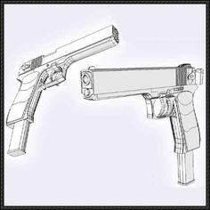 Beretta 92 Pistol Free Paper Model Download - http://www ...