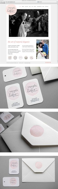 Logo, business cards and website for wedding photographer Magda Lukas by curious