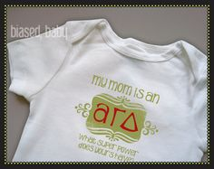 6019c3ccf73 Items similar to Alpha Gamma Delta Mommy - Funny Baby Gift on Etsy