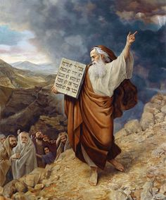 Ten Commandments by Slava Groshev ~ Biblical art Images Bible, Bible Pictures, Jesus Pictures, Jewish Art, Religious Art, Arte Judaica, Christian Pictures, Creation Photo, Prophetic Art