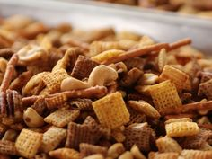 Party Mix recipe from Ree Drummond via Food Network