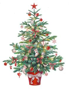 christmas tree pictures Christmas tree -- by Sarah Summers, British Christmas Tree Clipart, Christmas Artwork, Christmas Drawing, Christmas Greetings, Christmas Decorations, Christmas Rock, Christmas Scenes, Christmas Time, Merry Christmas