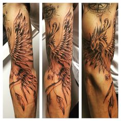 Tatouage Phoenix by Merries Melody tattooshop66 http://merriesmelody.com Torreilles village