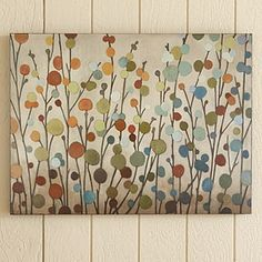 DIY canvas...definitely going to try this one.  Maybe for the kids' hallway?  My bathroom? hmm...