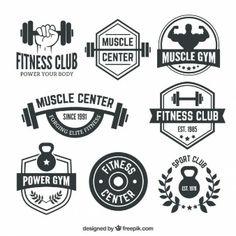 Fitness club badges