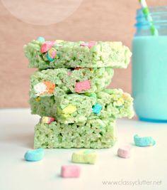 Lucky Rice Krispie Treats   St. Patrick's Day Recipe