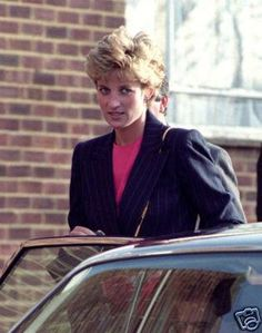 January 19 1993 Diana at the Red Cross International Supply Depot in Kingsbury, She visited the British Red Cross International Aid Operations London HQ
