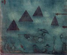 Water Pyramids. 1924. Obra de Paul Klee