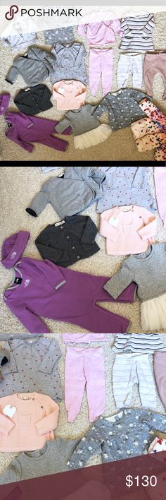 Large ZARA , gap, baby girl lot 3-9month I have these listed separately but willing to sell this big lot. You will get everything on the photo. Everything is worth over $200.  2 zara jackets, 1 zara dress, 2 zara sweaters North face set, gap dress, h&m sweaters, nordstrom baby outfits. Stem baby. Zara Jackets & Coats