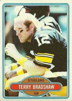 1980 Topps Terry Bradshaw Pittsburgh Steelers Football Card for sale online Football Trading Cards, Football Cards, Football Players, Baseball Cards, Pittsburgh Steelers Football, Steeler Nation, Vintage Football, Sports, Steel Curtain