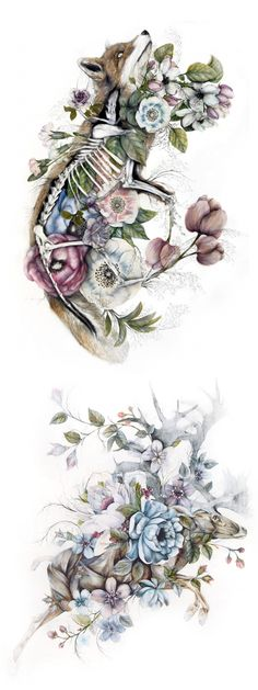 Nunzio Paci combines flora and fauna into one organism for a unique take on anatomical art.