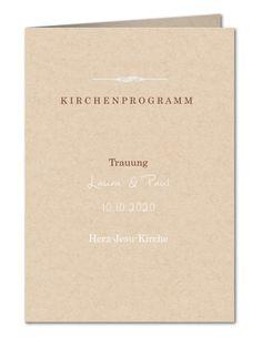 Kirchenheft Hochzeit Retro-Charme (PRP-383)