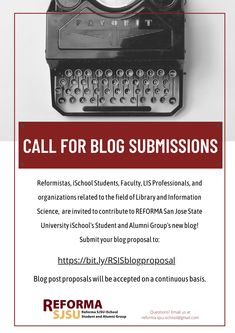 Open to LIS students, professionals, and alumni. Submit your blog proposal today!