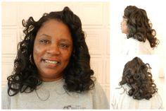 "#Hair #Model: Linda - wearing 16"" virgin Indian #Wavy"