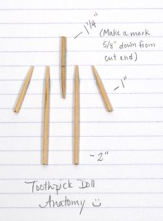 doll making Angela Michelle Dolls: Toothpick Doll Tutorial Supplies & Bodies.Want to learn how to make dolls out of toothpicks? All this week, I'm doing a Doll-Making T Worry Dolls, Toothpick Crafts, Doll Making Tutorials, Homemade Dolls, Matchbox Art, Clothespin Dolls, Opus, Craft Stick Crafts, Craft Sticks
