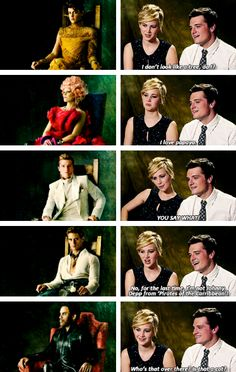 Josh & Jen about Catching Fire promo pictures