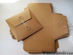 20pcs  Kraft paper CD DVD Envelope Sleeve fold eye by YHCSundries