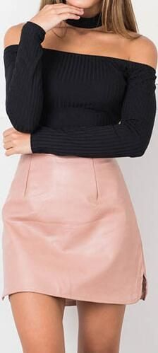 95b66cc1f 12 Best Pink leather skirt images in 2017 | Fashion, Outfits, Skirts