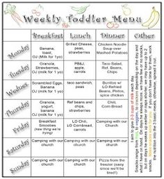 finding ideas for new meals for the kids through day care menus by ...