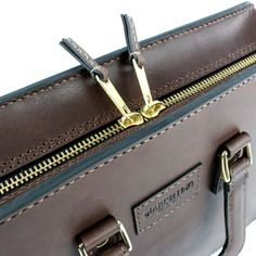 2102 top open leather briefcase - 20