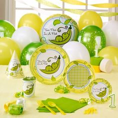 Two Peas in a Pod 1st Birthday Classic Party Pack