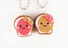 Peanut Butter and Jelly Best Friends Necklace Set by MadAristocrat, $26.00