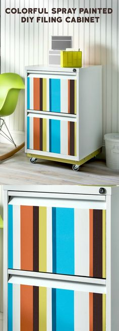 In this easy DIY file cabinet revamp, we took a thrift store find and made it over with existing spray paint. The whole project cost less than $10!