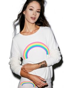 Wildfox Couture Rainbow Baggy Beach Jumper | Dolls Kill