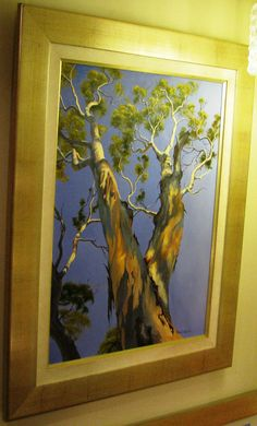 Robyn Collier original Australian oil titled Blakley s Red Gum - Wattle Flat Landscape Paintings, Trees, Oil, Flats, The Originals, Beautiful, Loafers & Slip Ons, Tree Structure, Landscape