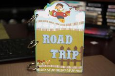 handmade mini scrapbook album using prima marketing road trip paper collection Prima Marketing, Scrapbook Albums, Mini Albums, Road Trip, Memories, Christmas Ornaments, Holiday Decor, Paper, Handmade