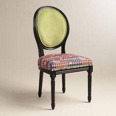 One of my favorite discoveries at WorldMarket.com: Green Holland Park Paige Round Back Side Chairs, Set of 2