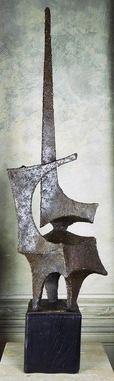 1972 Italian Abstract Brut Steel Sculpture | From a unique collection of antique and modern sculptures at https://www.1stdibs.com/furniture/decorative-objects/sculptures/