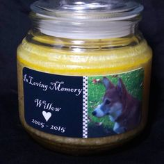 This 16oz customizable jar candle makes a wonderful tribute to a beloved dog.  #... - http://www.wedding.positivelifemagazine.com/this-16oz-customizable-jar-candle-makes-a-wonderful-tribute-to-a-beloved-dog/ https://scontent.cdninstagram.com/t51.2885-15/e35/12556015_1674841879454859_1862161991_n.jpg %HTAGS