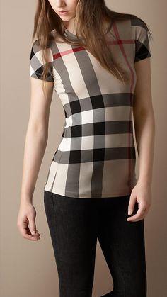 Check Cotton T-Shirt Price  $150.00     Item 36319811    Colour: NEW CLASSIC