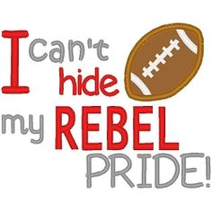 Rebel Pride Boy Applique - 3 Sizes! | Sport Teams | Machine Embroidery Designs | SWAKembroidery.com Band to Bow
