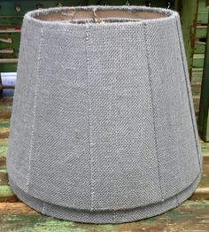 Solid Color Burlap Lamp Shades