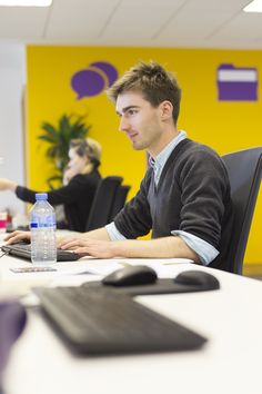Our Accounts Assistant Lucas Jakubowski working hard