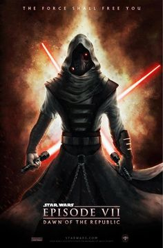 Star Wars Episode 7 Fan Poster.  Sith Lord, Twin Lightsabers.  See all posters here http://lilywight.com/2013/04/09/star-wars-episode-7-are-these-the-posters-youre-looking-for/
