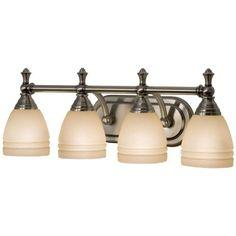 Checkolite 18024-70 4 Light Dorsey Bathroom Light, Antique Nickel by Checkolite. $89.95. Finish:Antique Nickel, Light Bulb:(4)60w A19 Med F Incand  4-Light Bath/Vanity Sconce.  .