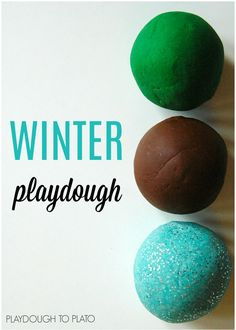 Winter playdough recipes