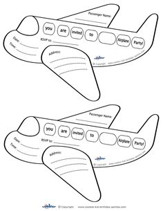 Printable Airplane Shaped Invitations Coolest Free Printables
