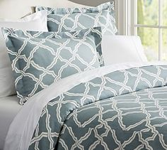 Kendra Trellis Duvet Cover - Pottery Barn - Great alternative for our set we have now