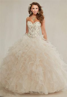 2015 Champagne Ball Gowns Quinceanera Dresses Sweetheart Embroidery Crystal Rhinestones Beaded Colla Ruffles Prom Debutante Dresses Sweet 16 Quinceanera Dresses In Pink Quinceanera Dresses In San Antonio Tx From Gracedressonline, $136.55| Dhgate.Com
