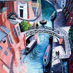 View the painting: Birmingham by Francis Farmar John Galliano, Clarks, Frances Farmer, Steve Madden, Art Types, Popular Paintings, Georgia Okeefe, City Painting, Birmingham