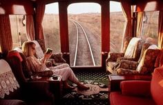 Best Luxury Train Journey - Picture is of the Pride of Africa Safari and Train Ride through Namibia Oh The Places You'll Go, Places To Travel, Travel Destinations, Train Tracks, Train Rides, Train Trip, Train Car, Journey Pictures, Orient Express