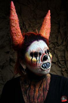 Demonic Makeup Halloween Artista: Marcela Leal Reserva tu cita en www.eltallerdelpelo.com Halloween Face Makeup, Artistic Make Up, Artists, Atelier, Hair